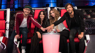 """Mark Forster, Nena, Larissa Kerner und Max Giesinger, """"The Voice Kids"""", neue Jury"""