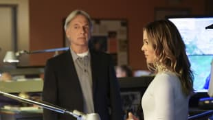 "Mark Harmon und Maria Bello in der ""NCIS""-Folge ""Fake It 'Til You Make It"", ""Agent Gibbs"", ""Agentin Sloana"""