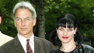 Mark Harmon & Pauley Perrette im Jahr 2003