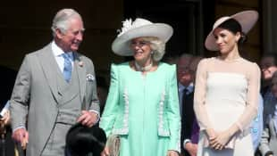Prince Charles, the Duchess of Cornwall and the Duchess of Sussex attend The Prince of Wales's 70th Birthday Patronage Celebration at Buckingham Palace