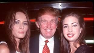 Melania, Donald und Ivanka Trump im Jahr 2000