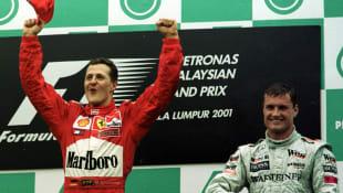 Michael Schumacher und David Coulthard