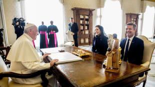 Papst Franziskus,  Kronprinzessin Mary und Kronprinz Frederik