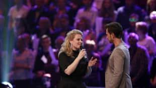 """Patricia Kelly neben Florian Silbereisen bei der Show """"Schlagercountdown - das große Premierenfest"""" 2017"""
