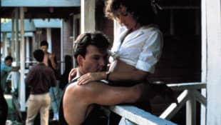 "Patrick Swayze and Jennifer Grey as ""Johnny"" and ""Baby"" in Dirty Dancing"