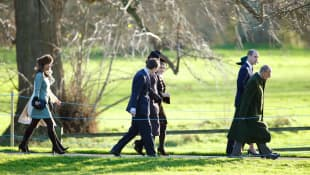 Pippa Middleton,  James Meade, Sophie Carter, Catherine, Prince William and Prince Philip