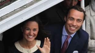Die Geschwister Pippa und James Middleton im Jahr 2012