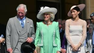 Prinz Charles, Herzogin Camilla und Herzogin Meghan anlässlich der Feierlichkeiten seines 70. Geburtstages.