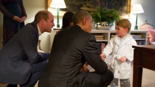 Prinz George und Obama