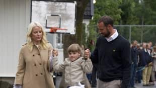 Prinz Haakon, Prinzessin Mette und Prinzessin Ingrid