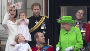 Prinz Harry, Prinz William, Kate Middleton, Königin Elisabeth II.