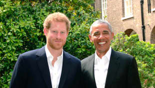 Barack Obama besuchte Prinz Harry in London