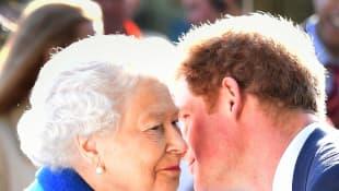 Prinz Harry und Königin Elizabeth II.