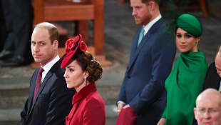 Royals; Britische Royals; Prinz William Herzogin Kate Prinz Harry und Herzogin Meghan
