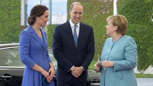 Prinz William Herzogin Kate und Angela Merkel