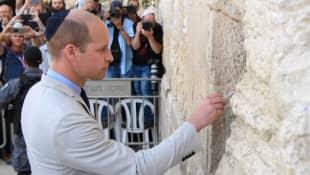 Prinz William an der Klagemauer