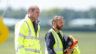 Prinz William tritt seine letzte Schicht als Hubschrauberpilot an