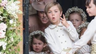 Prinzessin Charlotte, Herzogin Kate und ein Page Boy