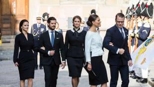 Prinzessin Sofia von Schweden, Carl Philip von Schweden, Prinzessin Madeleine, Kronprinzessin Victoria und Prinz Daniel