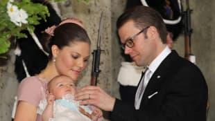 Prinzessin Victoria mit Estelle, Prinz Daniel