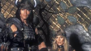 Sandahl Bergman und Arnold Schwarzenegger