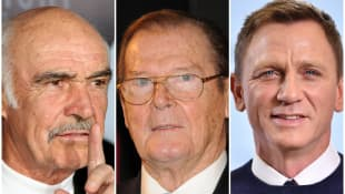 Sean Connery, Roger Moore, Daniel Craig