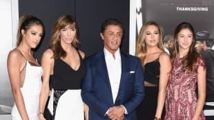 Sylvester Stallone mit seiner Familie