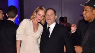 Uma Thurman und Harvey Weinstein