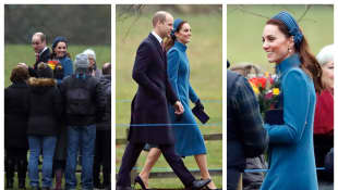 Prince William and Duchess Catherine attend Sunday service at St. Mary Magdalene