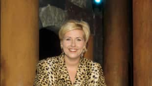 """ZDF""-Fernsehgarten-Moderatorin Andrea Kiewel im Jahr 1997, Andrea Kiewel, ZDF-Fernsehgarten"