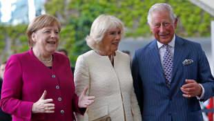Angela Merkel, Herzogin Camilla und Prinz Charles