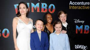 Angelina Jolie, Zahara, Vivienne, Know und Shiloh