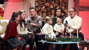 Angelo Kelly mit Frau und Kinder
