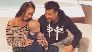 Annemarie Carpendale und Wayne Carpendale mit Sohn