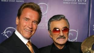 Arnold Schwarzenegger and Burt Reynolds