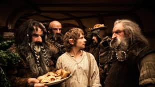 """""""Bifur"""", """"Dwalin"""", """"Bilbo"""", """"Bofur"""" und """"Oin"""" in """"Der Hobbit"""""""