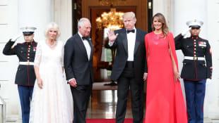Herzogin Camilla, Prinz Charles, Donald Trump und Melania Trump