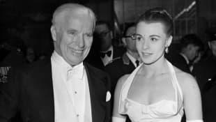 Charlie Chaplin und Paulette Goddard