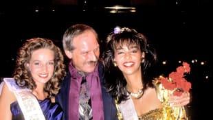 Christiane Stöcker, Dieter Rissen und Verona Pooth bei der Wahl zur Miss Germany 1989
