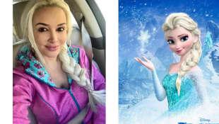"""Daniela Katzenberger und """"Elsa"""" aus """"Frozen"""", Daniela Katzenberger, Elsa, Frozen"""