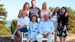 die norwegischen Royals, die norwegische Königsfamilie, Prinz Haakon, Mette-Marit, König Harald, Königin Sonja, Prinzessin Ingrid Alexandra, Prinz Sverre Magnus, Prinzessin Märtha Louise, Maud Angelica Behn, Prinz Haakon Geburtstag