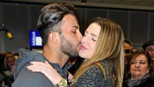 Domenico de Cicco wurde am Frankfurter Flughafen von seiner Freundin Julia abgeholt