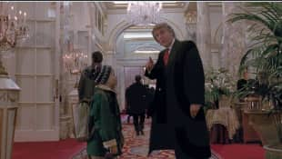 "Donald Trump in dem Film ""Kevin allein in New York"" 1992"