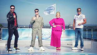 Die ursprüngliche DSDS-Jury 2020:  Michael Wendler, Mike Singer, Maite Kelly und Dieter Bohlen