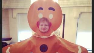 Ed Sheeran an Halloween als Lebkuchenmann, Ed Sheeran
