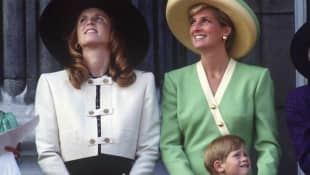 Fergie, Lady Diana und Prinz Harry