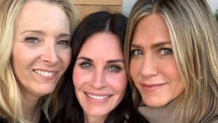 Lisa Kudrow, Courteney Cox und Jennifer Aniston