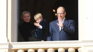 Fürstin Charlène und Fürst Albert II. mit Sohn Prinz Jacques