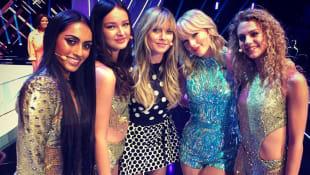 Heidi Klum, Taylor Swift und die GNTM-Finalistinnen