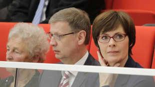 Günther Jauch und seine Frau Thea 2014